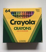 Vintage 1990 Box Of 64 Crayola Crayons Includes Built-In Sharpner Retro VTG