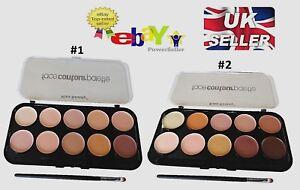 Ultra Big 10 Colour Concealer Palette Contouring Highlighting Cream Makeup Kit
