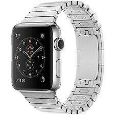 APPLE Watch Series 2, Smart Watch, Edelstahl Gliederarmband, 42 mm, Silber/Silbe