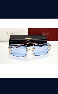 Cartier Glasses (Blue Tint)