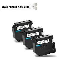 New Listing3pk Black On White Label Tape For Brother P Touch M K231 Mk231 M231 12mm 12