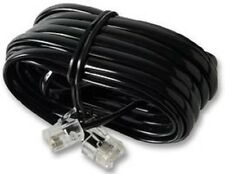 Black 15m RJ11 - RJ11 4 Pin Fully Wired High Speed Broadband ADSL Cable