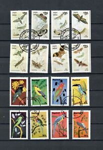 OMAN NAGALAND BIRDS & BUTTERFLIES USED SET OF  STAMP LOT (OMAN 44)