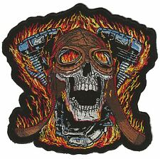Grand patch dorsal embroidered badge dos big size BURNING Mechanics patch