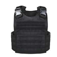 Plate Carrier Military MOLLE Tactical Assault Vest Rothco 8922 Black