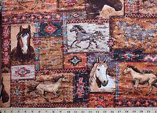"2 yards  ""Sundance Horse Patch""  Fabric"