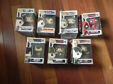 7 ASORTED FUNKO POP FIGURINES VINYL BOXES HEAVILY DAMGED BUT ALL NEW