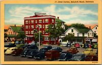 Hotel Carlton Building-Old Cars-Rehoboth Beach-Delaware-Vintage W/B Postcard