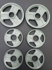 """Olympic Weight Plates Set 30 Lbs Total-Barbell 2"""" Brand New Excellent! 10lb Pair"""