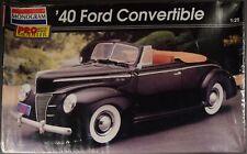 1940 Ford Convertible - 1/25 Scale Model Kit - Monogram Pro Modeler - SEALED