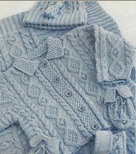 52db6e0cac889 Baby Jacket Hat Mittens Bottees and Blanket Knitting Pattern in DK 6-18mths  1056