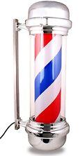 "27"" Barber Pole LED Light Red White Blue Stripes Rotating Hair Salon Spa Shop"