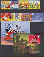 Granada: 1991 50th aniversario de fantasía Set + MS SG2195-2202+ MS2203/4 Estampillada sin montar