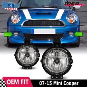 For 2007-2015 Mini Cooper OE Style Fit Fog Light Bumper Kit Clear Lens