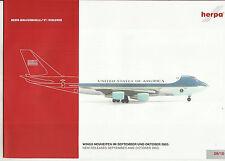 Katalog Herpa Wings September/Oktober Neuheiten 2003 Flugzeuge