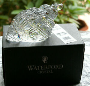 Waterford Crystal Conch Shell Paperweight New in Box