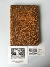 NWT Marigold Leather OBERON DESIGN Leopard 6x9 Lg Refillable Journal Cover