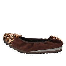 scarpe donna CALPIERRE 35 EU Ballerine Marrone Camoscio Cavallino AD574-B