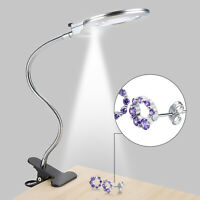 Clip-on Loupe LED Magnifier Clip-on Desk Table Magnifying Glass Loup Durable