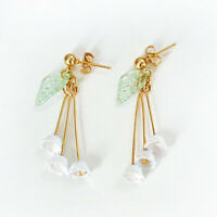 beautiful lily of the valley flower dangle drop earrings wholesale I1J3