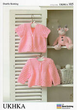 Baby Cardigans  Double knitting pattern. (Prem - 12mths ) -UKHKA105