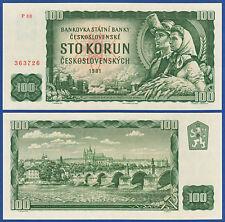 TSCHECHOSLOWAKEI / CZECHOSLOVAKIA 100 Korun 1961 UNC P.91b