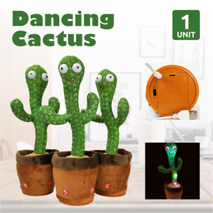 1x Dancing Cactus Plush Toy Electronic Shake with song cute Dance Succulent Gift