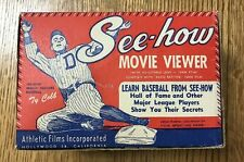 Vintage Ty Cobb Endorsed See-How Movie Viewer 1930s Baseball Antique Complete
