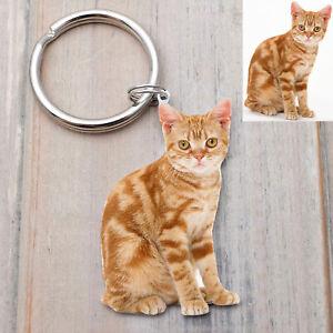 Cat Photo Keychain Custom Photo Keyring Personalized Dog Keychain Pet Lover Gift