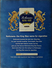 Rothmans The King Size Name for Cigarettes Flavour That Really Satisfies Ad 1965