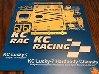 1/24 Slot Car Hard Body KC Racing Lucky-7 Hardbody Chassis Kit