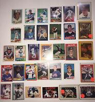 HALL OF FAME Stars Rookie Baseball Card Lot 1980s Glavine SMOLTZ Griffey Niekro