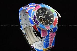 "Invicta 48mm Limtd Ed Auto ""MODERN ART OF ROMERO BRITTO"" Hydro plated Pink Watch"