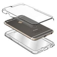 Rundumschutz Doppel SILIKON Hülle Schutz iphone 7 Tasche Transparent