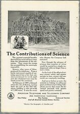 1920 AT&T advertisement, American Telephone & Telegraph ice storm damage Boston
