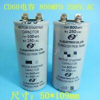 1pcs new for CD60 800MFD 800UF 250V AC 50X109 AC motor starting capacitor