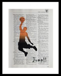 BASKETBALL Dictionary Original Art Print Poster Home Wall Decor KIDS ROOM NBA