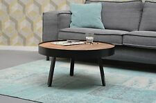Design Beistelltisch Couchtisch rund Marlon Ø 74 cm Mango Holz Metall *Neu*
