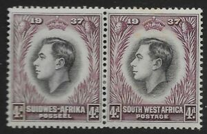 SOUTH WEST AFRICA SG102a 1937 CORONATION 4d BLACK & PURPLE RE-ENTRY MTD MINT