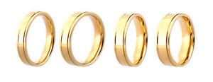 9ct Yellow Gold Diamond Cut Patterned Wedding Band Flat Profile Hallmarked