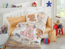 100% Organic cotton baby duvet / quilt cover cot sheet set 10 Piece girl and boy