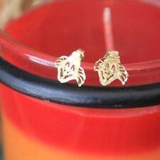 14k Gold Post Clown Earrings Pennywise stud/post earrings butterfly back 1990's