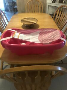Baby Infant Toddler Tub Bath Sling Padded Headrest Extra Support Comfort PINK