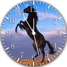 Beautiful Black Horse Frameless Borderless Wall Clock Nice For Gifts Decor Y45