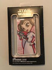 Disney Parks Star Wars iPhone 5 Case Cartoon Princess Leia NEW