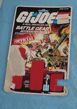 GI Joe Official Battle Gear Accessory Pack Full Card.