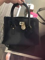 New Michael Kors Saffiano Leather Hamilton  EW Navy Blue Medium Divided Tote