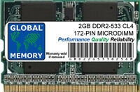 2GB DDR2 533MHz PC2-4200 172-PIN MICRODIMM MEMORY RAM FOR LAPTOPS/NOTEBOOKS