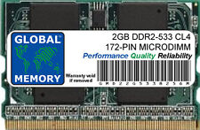 2gb DDR2 533MHz PC2-4200 172-pin Microdimm Memoria Ram para Portátiles/Notebooks