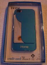 iHome CREDIT CARD case for iPhone 5 ~ METALLIC BLUE~ IH-5P103N ~ NIB